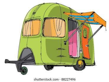 caravan - mobile house - camping