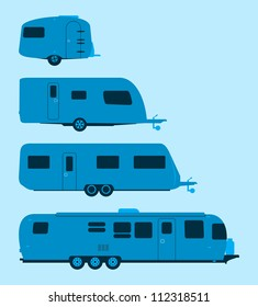 Airstream Trailer Stock Vectors Images Vector Art