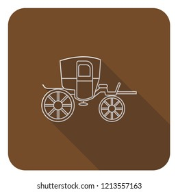 caravan,carriot,carriage, wagon icon with long shadow