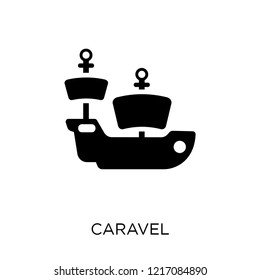 caravel icon. caravel symbol design from Nautical collection. Simple element vector illustration on white background.