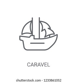 caravel icon. Trendy caravel logo concept on white background from Nautical collection. Suitable for use on web apps, mobile apps and print media.