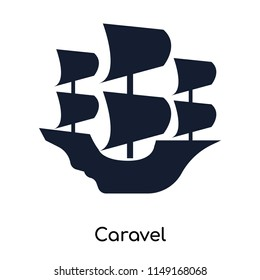Caravel icon vector isolated on white background for your web and mobile app design, Caravel logo concept