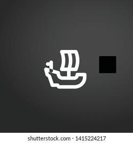 Caravel vector icon. Caravel concept stroke symbol design. Thin graphic elements vector illustration, outline pattern for your web site design, logo, UI. EPS 10.