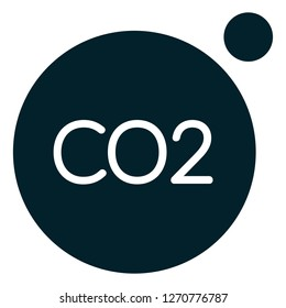 Carbon Dioxide CO2 Emission - Icon as EPS 10 File