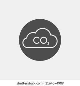Carbon dioxide flat vector icon