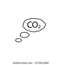 Carbon dioxide outline icon. Element of ecology icon for mobile concept and web apps. Thin line Carbon dioxide can be used for web and mobile