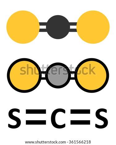 Carbon Disulfide Cs 2 Molecule Liquid Used Stock Vector Royalty