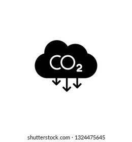 Carbon emissions reduction icon