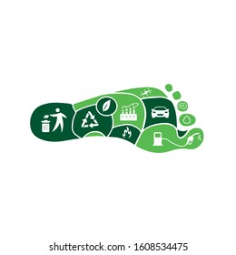 Carbon Footprint C02 vector logo sign