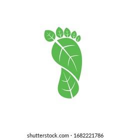 Carbon Footprint C02 vector symbol icon