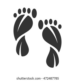 Carbon footprint icon.