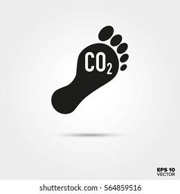 Carbon footprint Icon. Environmental Damage and Global Warming Symbol. EPS 10 Vector.