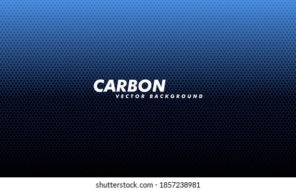 Carboon background with hexagons. Modern illustration. Navy blue honeycomb metal texture steel backdrop. Modern tech design.