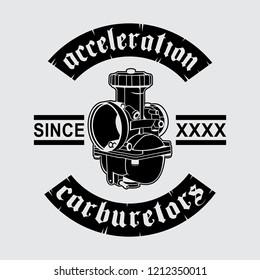 carburetor design vector ideas, vector EPS 10