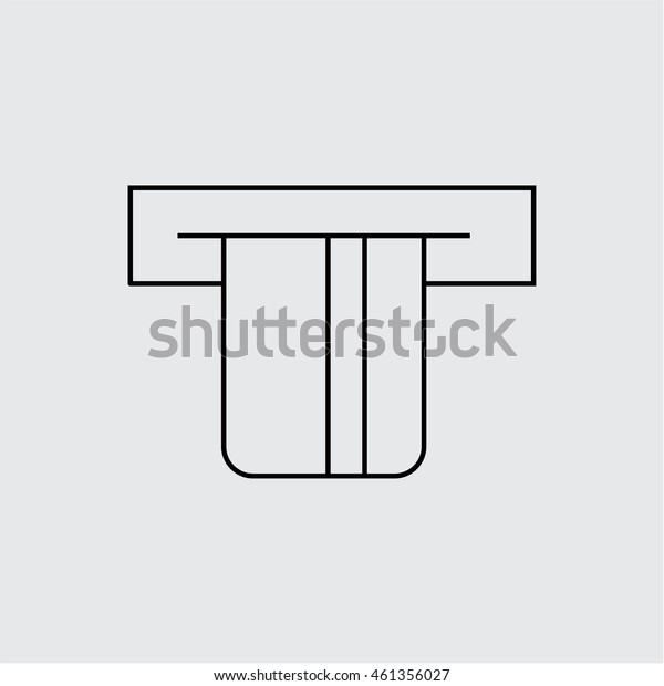 Card in ATM icon illustration vector outline