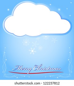 card backgrounds a snowflake cloud, for new year and christmas