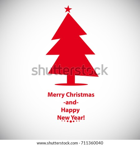 Card Christmas Tree Template Your Design Stock Vector Royalty Free