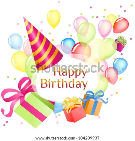 Card For Congratulations Birthday Style Vector Illustration