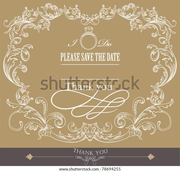 Card Cover Design Wedding Invitation Card Stock Vector