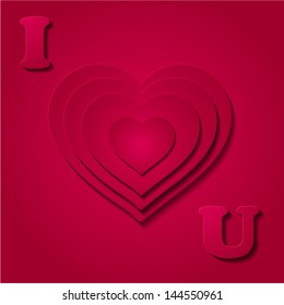 card for the day of St. Valentine