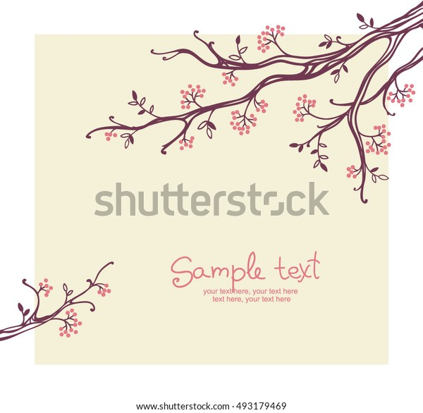 card with floral background - invitation for party or wedding