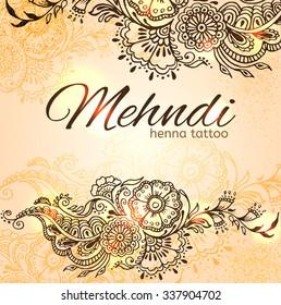 Mehndi Invitation Card Images, Stock Photos \u0026 Vectors