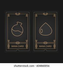 Card game mana vector illustration