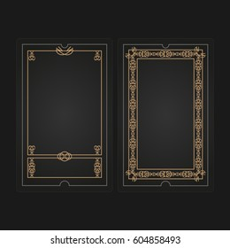 Card game template vector illustration