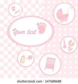Card for girl babyshower