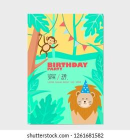 card happy birthay animals