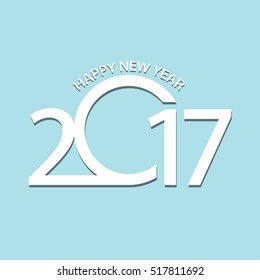 The card with Happy New Year 2017.