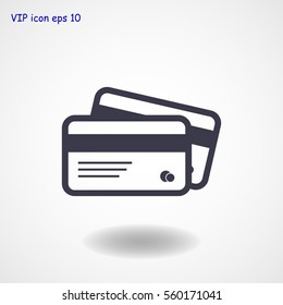 card icon, vector best flat icon, EPS