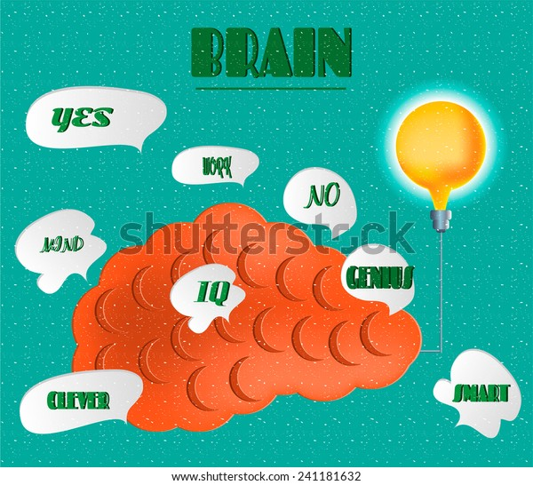 Card Idea Iq Genius Mind Clever Stock Vector (Royalty Free