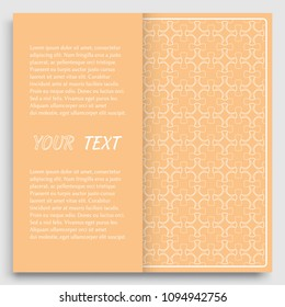 Card Invitation Cover Template Design Line Art Background Abstract Geometric Pattern With