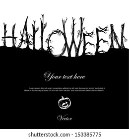 card or invitation for Halloween party
