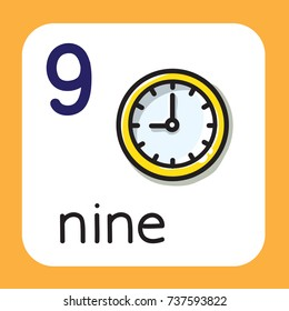 Card for learning to count from 1 to 10. Education