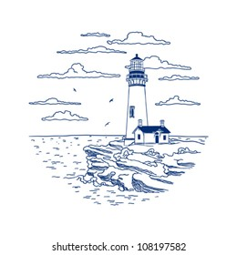 Card with the lighthouse