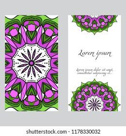 card with mandala design.
