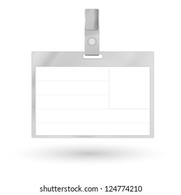 Card Name or Id Holder isolated on white