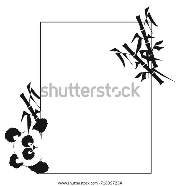 Card Panda That Looks Side Suitable Stock Vektorgrafik Lizenzfrei
