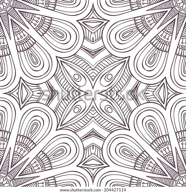 Card. Round Ornament vector Pattern. Vintage decorative elements. Hand drawn background. Islam, Arabic, Indian, ottoman motifs.