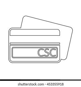 Card Security Code CSC icon illustration design