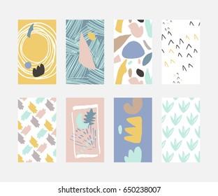 Card set abstract shapes