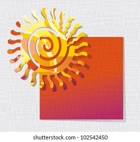 Card with the solar symbol.