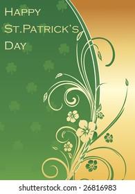 card for st. patricks day celebration