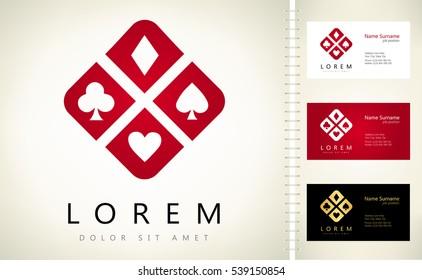 card suit logo
