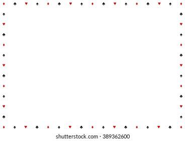Card Suits Border Frame Vector Illustration