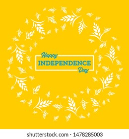 Card template for design. Vector Illustration happy Independence day of Ukraine.