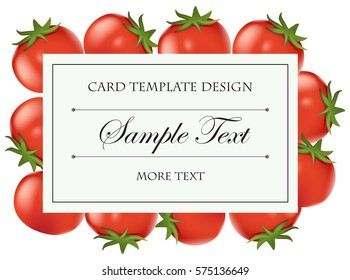 Card template with fresh tomatoes illustration