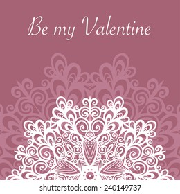 Card template, romantic vector, invitation